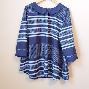 Modcloth stripe top tunic blouse